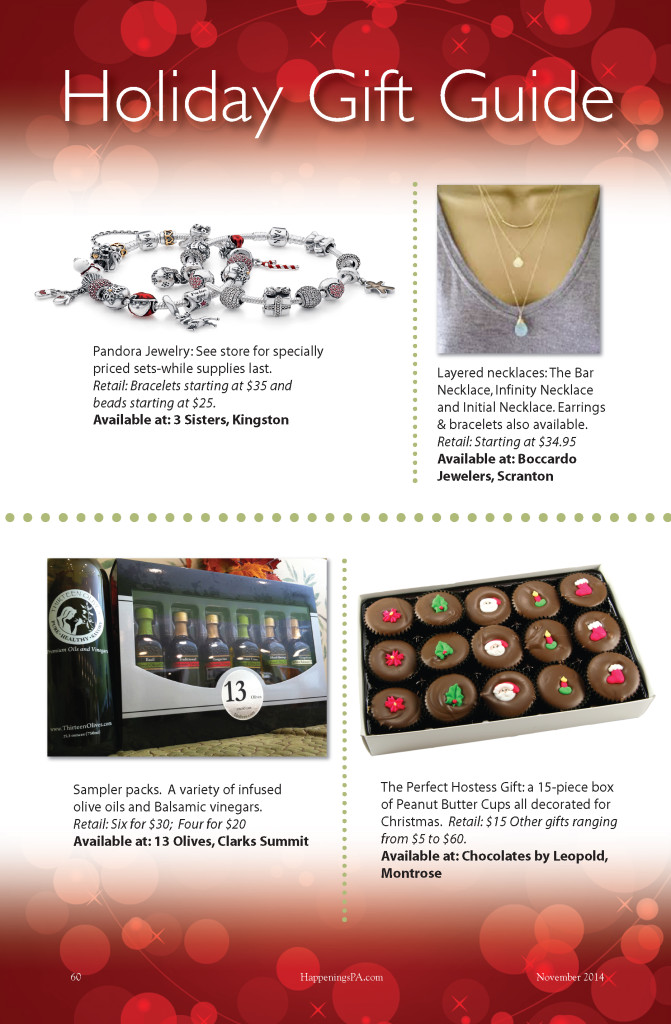 Christmas Gift Guide Layout.Shop Local Northeast Pa Holiday Gift Guide Happenings Magazine