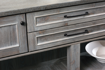 Country/Rustic: Furniture Looking Cabinets With A Cottage Style Door And  Bead Board Centers Help To Define The Country Feel Of A Kitchen.