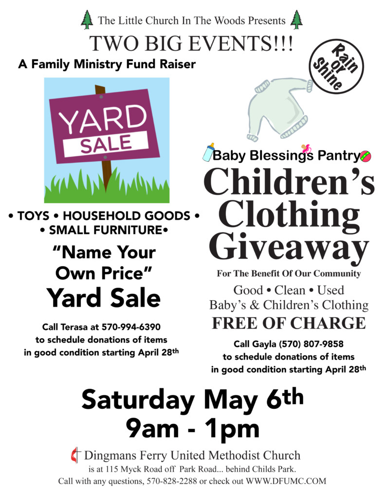 2017.05.06 May 06 Yard Sale and Childrens Clothing Giveaway Flyer name your own price yard sale and children's clothing giveaway,Childrens Clothing Yard Sale Prices